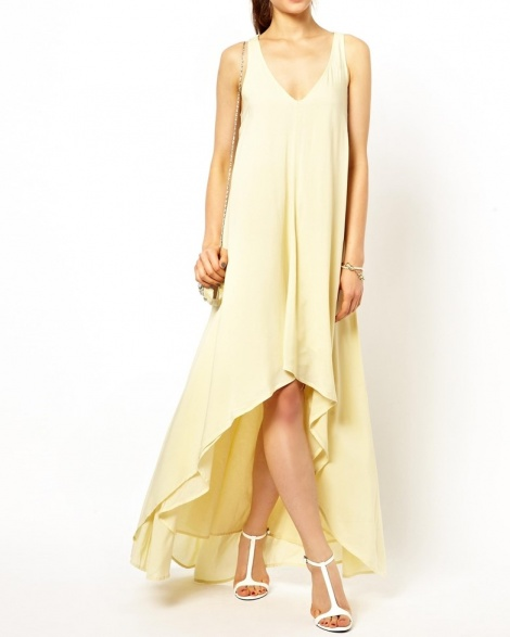 Lemon sorbet trapeze gown