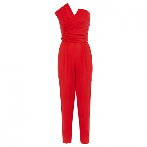 Origami bow corseted jumpsuit