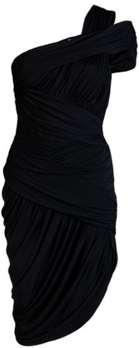 One shoulder maternity LBD as seen on Giselle