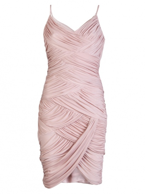 Blush bandage maternity dress