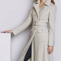 Vogue 70s tweed long trench