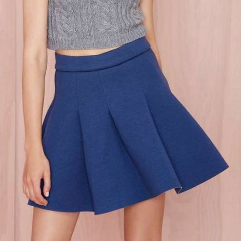 Sports luxe pocket skirt