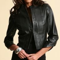 Victoriana leather jacket