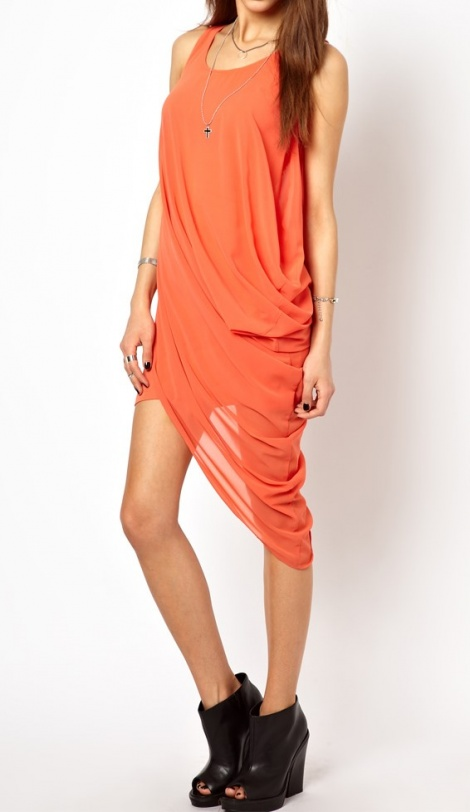 Grecian asymmetric dress