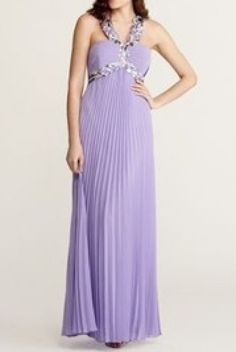 1930s lavender pleat gown
