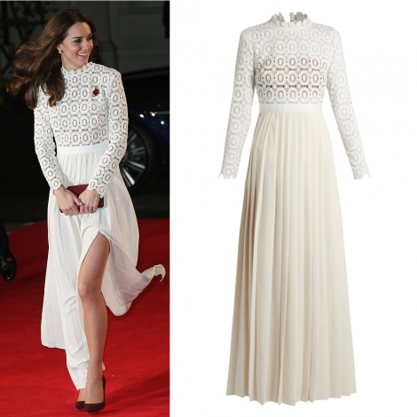Princess crochet pleated gown
