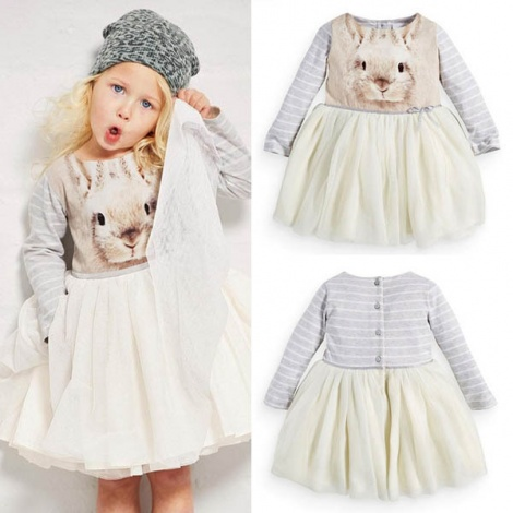 Long sleeve ballerina dress
