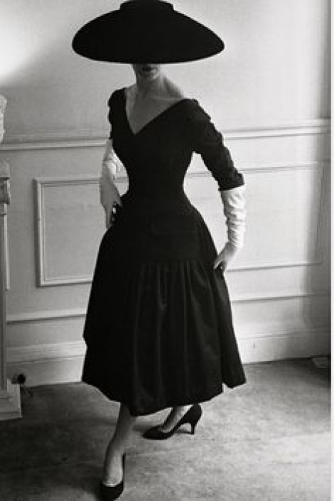 Iconic Dior style vintage sleeved LBD