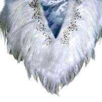 Jewelled feather cape
