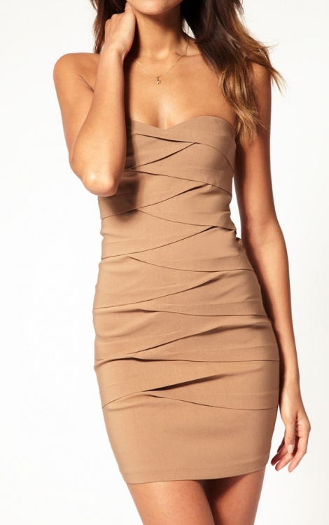 Diagonal bandage dress