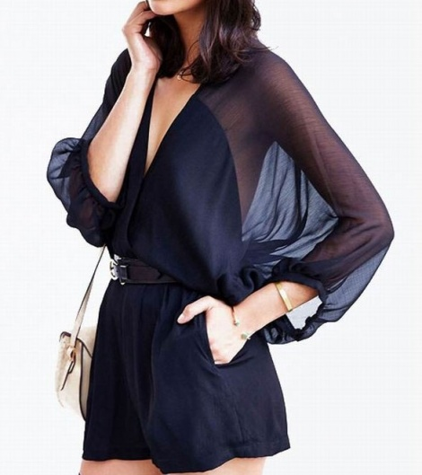 Angel sleeve playsuit