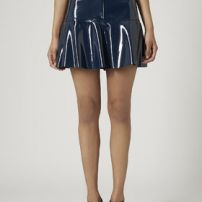 Patent vegan leather skirt