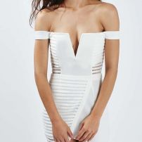 Sports couture off shoulder dress