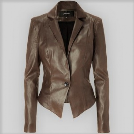 Deep tan leather blazer (sold)