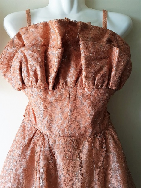 Original 1950s lace gown
