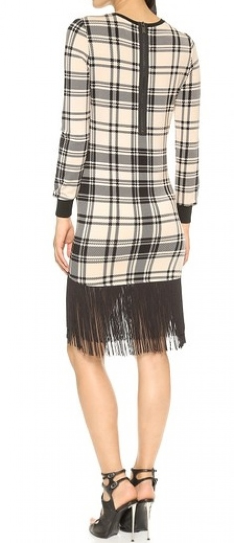 1920s fringed sweater dress