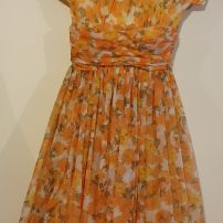 Original 1950s Audrey orange dress