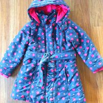 Polkadot padded coat