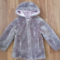 Mink fantasy fur hooded coat