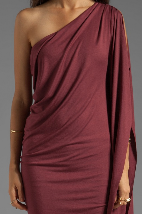 One shoulder grecian maternity dress
