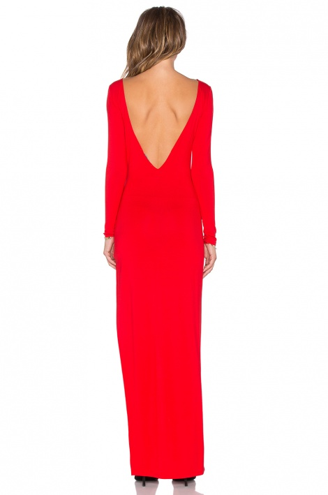 Statement slit sleeved gown
