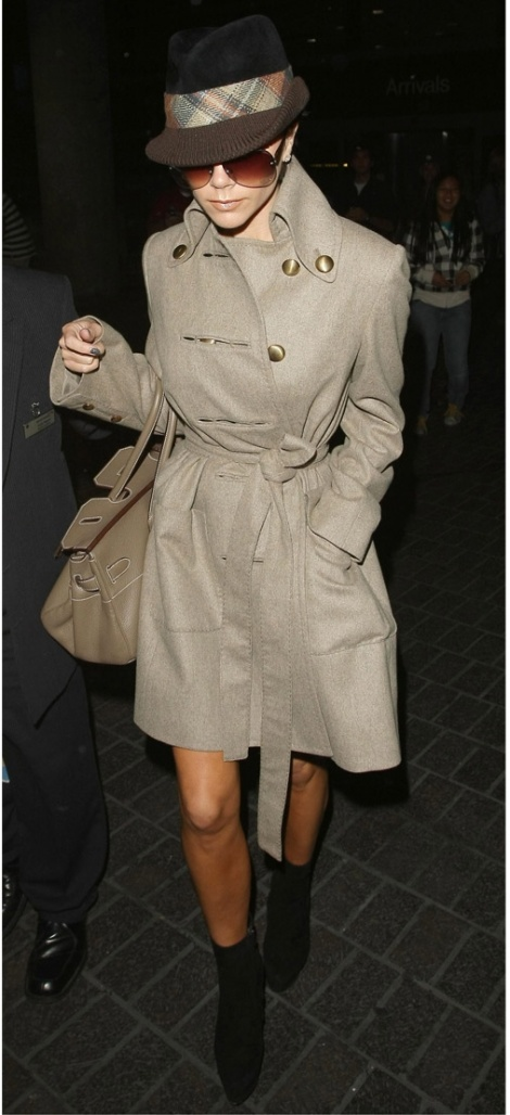 Camel military full skirt coat