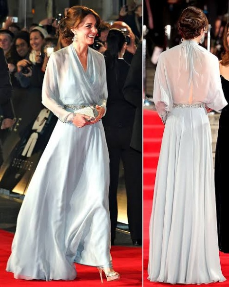 Ethereal sheer long sleeve gown