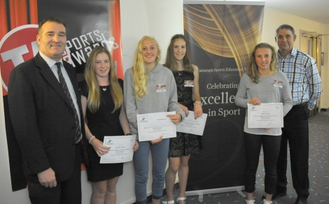 WSET Scholarship winners from the TA Sports Awards