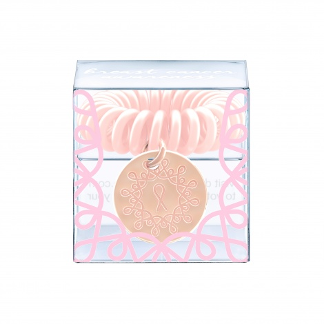 Invisibobble - ORIGINAL - Pink Heroes Rose Gold Charm