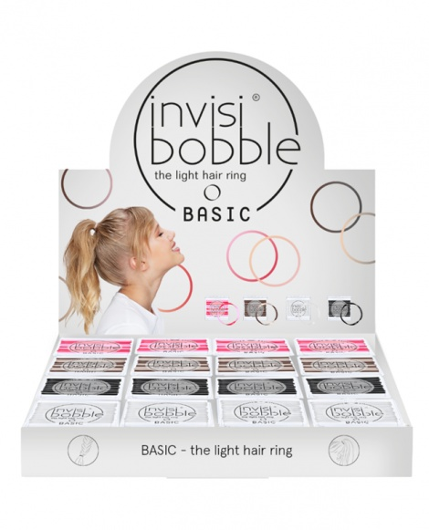 invisibobble Basic (16) - The Light Hair Ring - Rip Open Display