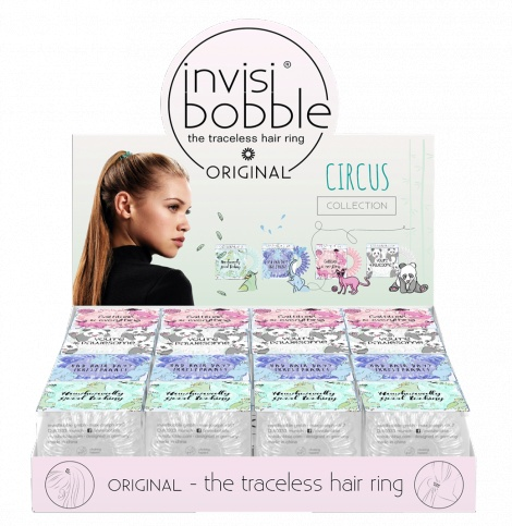 Invisibobble Original Circus (16) - Hair Ring - Rip Open Display