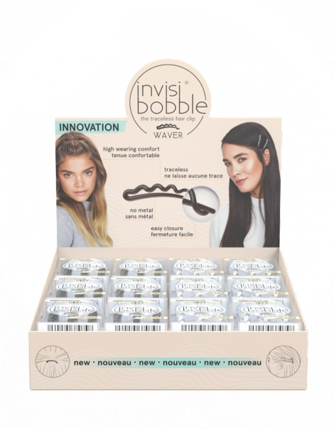 Invisibobble Waver (24) -The Hair Clip 2.0 - Rip Open Display