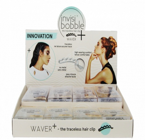 Invisibobble Waver + (12) - Hair Clip 36% Bigger - Display Set