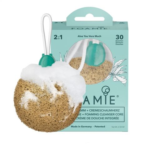FOAMIE Sponge Aloe You Vera Much with gently cleaning shower care