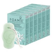 FOAMIE Aloe You Vera Much for Dry Hair  Shampoo Bar - 6 Pack Bundle