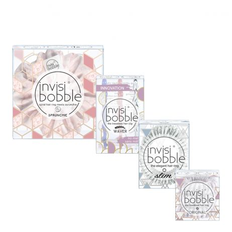 NEW Invisibobble Marblelous Quattro Pack