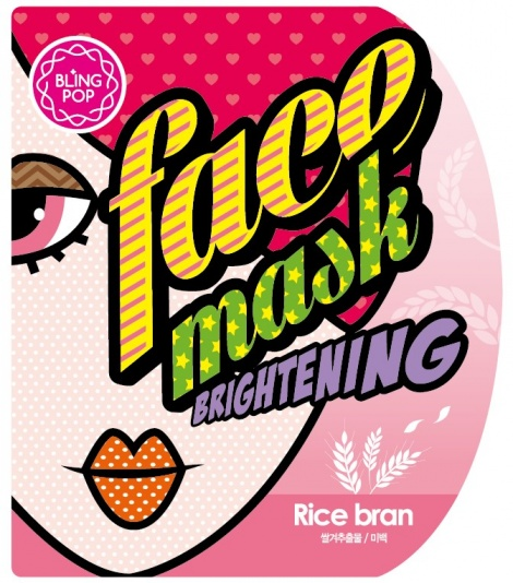 BLING POP Rice Bran Brightening Face Mask
