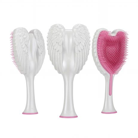 Tangle Angel 2.0 Gloss White with Pink Bristles
