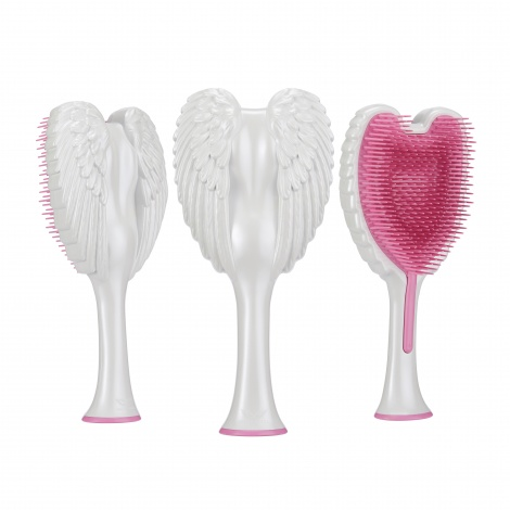 NEW Tangle Angel 2.0 Gloss White with Pink Bristles