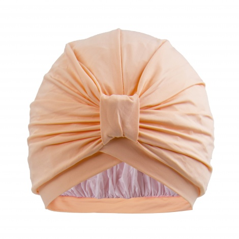NEW STYLEDRY Turban shower cap   colour: that's peachy