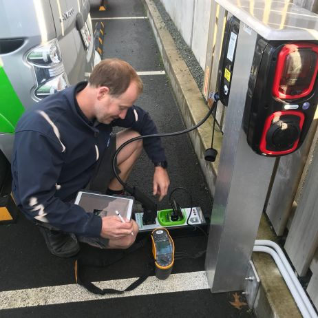Electric Car Charger Testing