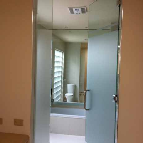 Frameless Bathroom Door