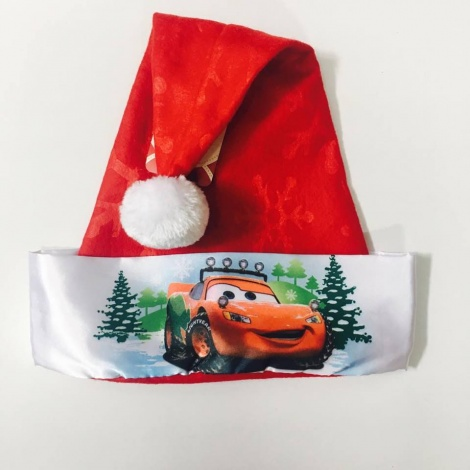 Disney Cars Santa Hat