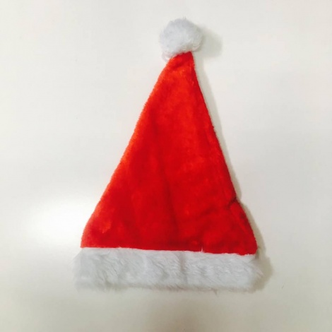 Plush Adult's Santa Hat