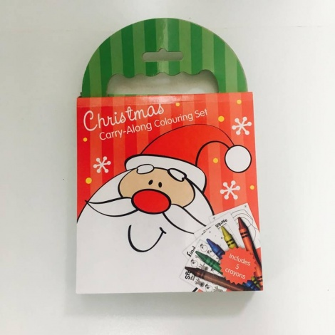Carry-Along Christmas Colouring Set
