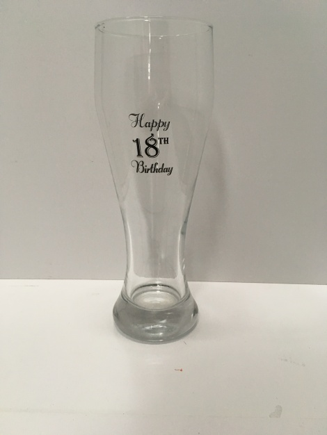 18th Tall Beer Glass