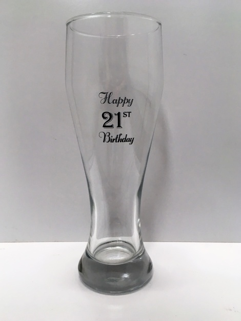 21st Tall Beer Glass