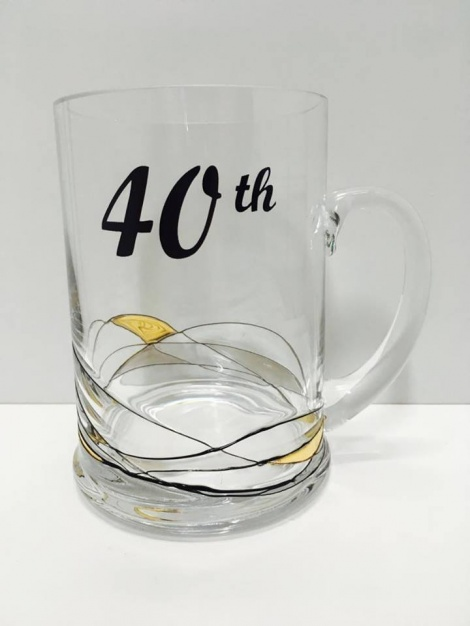 40th Glass Tankard