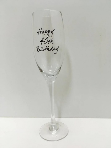 40th Champagne Flute