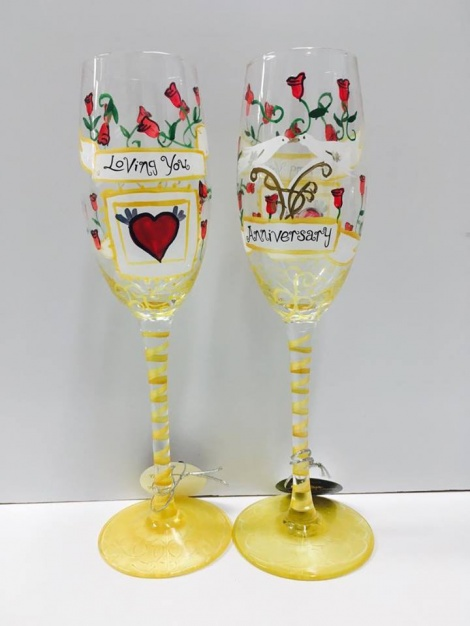 Champagne Flutes - Anniversary